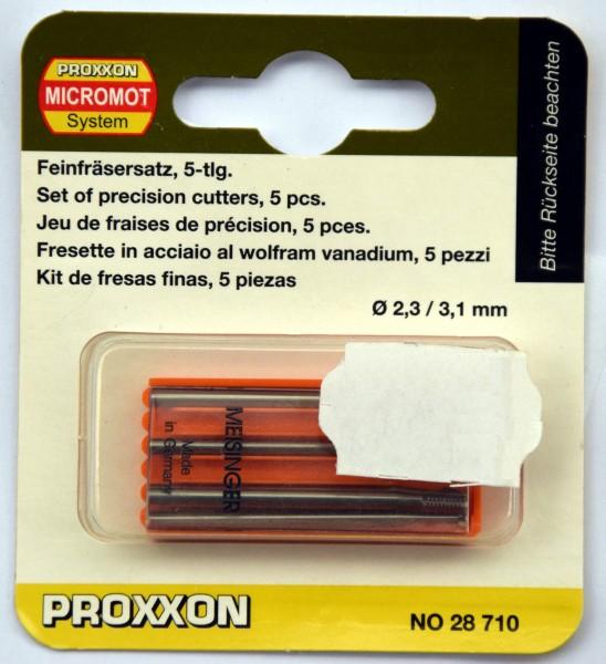 Proxxon Feinfräser-Set, 5-tlg. (Art.Nr. 28 710) Ø 2,3 / 3,1 mm