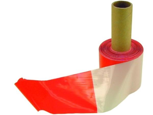 Absperrband rot/weiß 100m