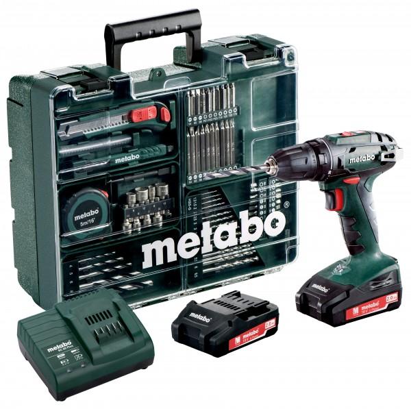 Metabo Akku-Bohrschrauber BS 18 Set Mobile Werkstatt