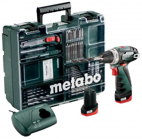 Metabo 10,8-Volt-Akku-Bohrschrauber PowerMaxx BS Basic Set Mobile Werkstatt