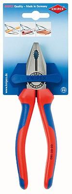 Knipex Kombizange schwarz atramentiert mit Mehrkomponenten-Hüllen 180mm