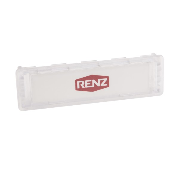 Renz Namensschild 75x22mm glasklar