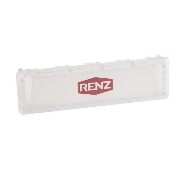 Renz Namensschild 75x22mm glasklar