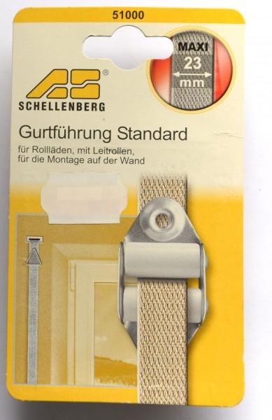Gurtführung Standard für Rollläden, mit Leitrollen, Gurtbandbreite: 23 mm