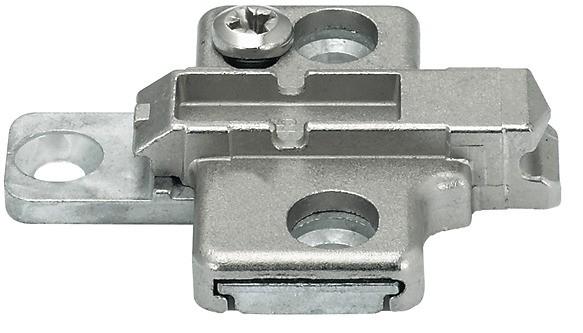 Kreuzmontageplatte, Clip/Clip Top, zum Schrauben mit Euroschrauben