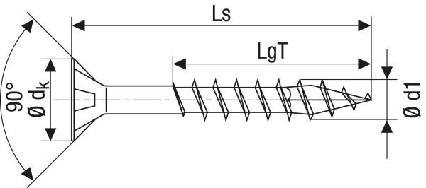 SPAX-Universalschraube, 6x100 (VE=100 Stück)