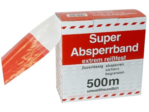 Absperrband rot/weiß 500m