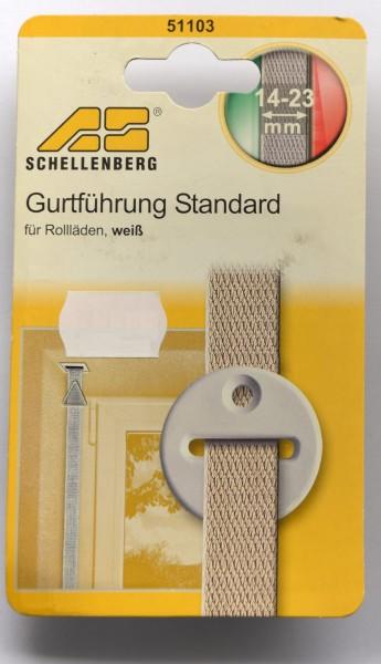 Gurtführung Standard weiß für Rollläden, Gurtbandbreiten: 14mm - 23mm