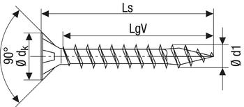 SPAX-Universalschraube, 4,5x20 (VE=1000 Stück)