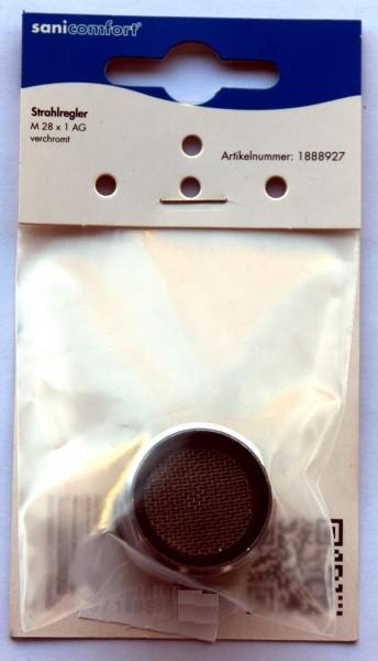 Strahlregler, M 28x1 AG, verchromt
