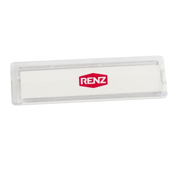 Renz Namensschild 64x19mm für Materialstärke 2,5mm