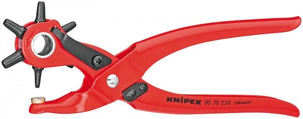 Knipex Revolverlochzange rot pulverbeschichtet 220mm