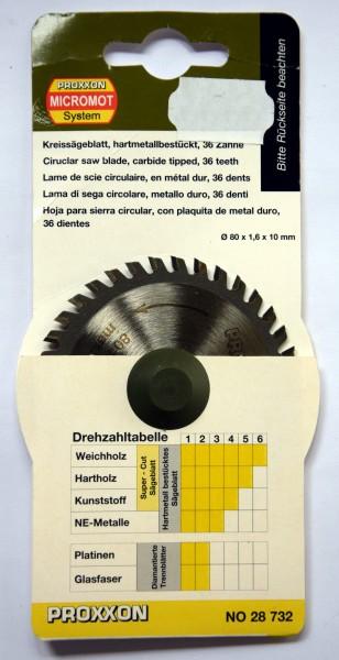 Proxxon Kreissägeblatt, hartmetallbestückt (36 Zähne) (Art. Nr. 28 732)