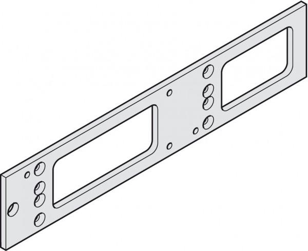 Montageplatte, für Geze TS 4000 und TS 5000, silberfarben