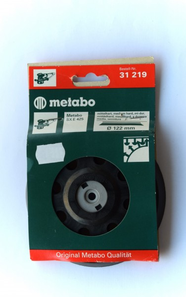 Metabo Stützteller 125mm gelocht mittelharte Ausführung mit Kletthaftung für SXE 425