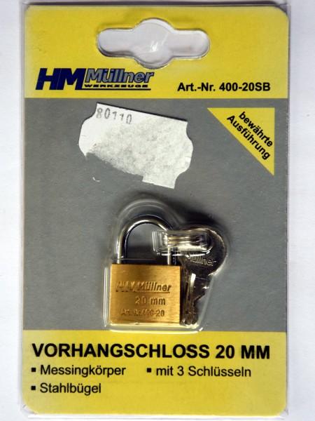 Vorhangschloss 20mm (Art Nr. 400-20SB)