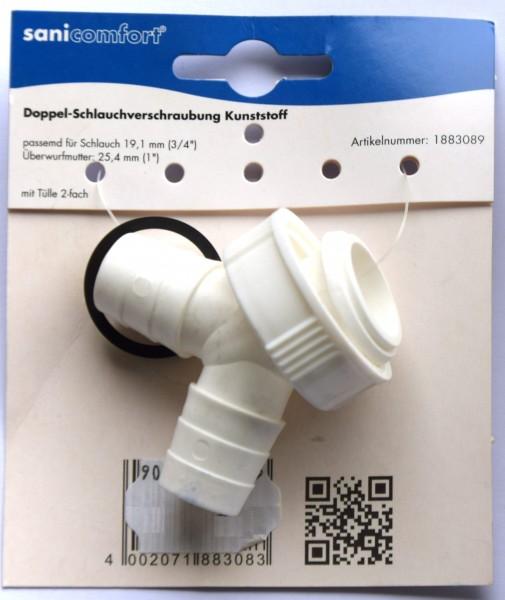 Doppel-Schlauchverschraubung Kunststoff