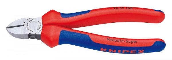 Knipex Seitenschneider schwarz atramentiert mit Mehrkomponenten-Hüllen 160mm